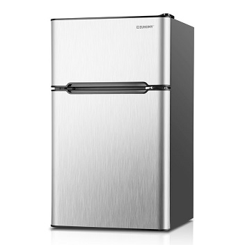 Euhomy Mini Fridge with Freezer for Basement